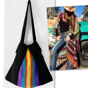 American Hippie BoHo Style Crochet Bag